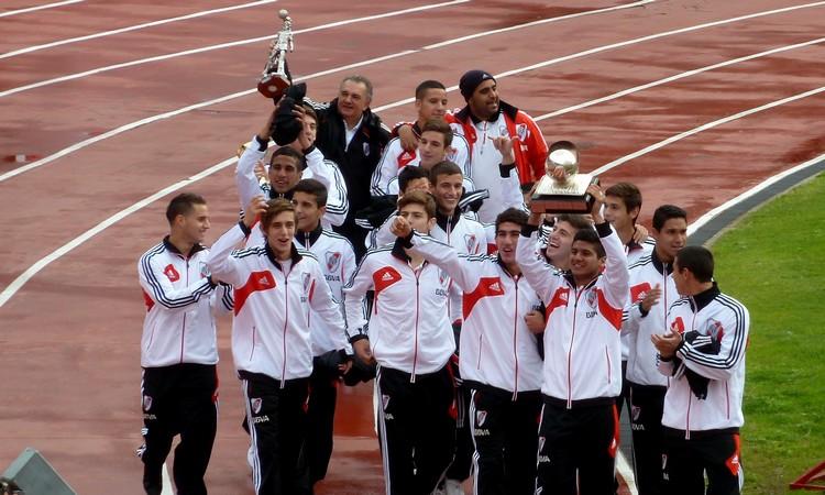 Los campeones del Mundial Sub-17 tuvieron su homenaje en el Monumental (Foto: Ubaldo Kunz I La Máquina)